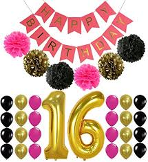 sweet 16 party decorations 16th birthday party supplies decorations hot pink
