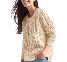 cable knit sweater womens gap chunky cable knit textured sweaters for ebay