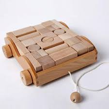 wooden car wooden toy blocks organic classic developmental montessori