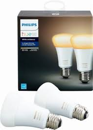 best buy light bulbs philips hue white ambiance a19 wi fi smart led bulb 2 pack white