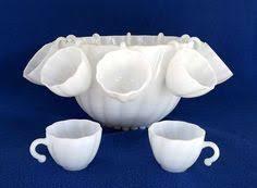mid century modern atomic glass punch bowl set u0026 7 cups norse