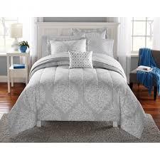 Walmart White Bed Frame Bedroom Mainstays Leaf Medal Bed In A Bag Bedding Set Walmart