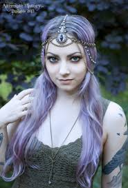 chain headpiece hat chain headpiece headpiece eye purple