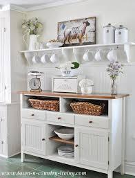 take a tour of my cottage style farmhouse kitchen sideboard