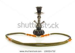 Hookah Rug Small Hookah On Iranian Rug Isolated Stock Photo 21602011