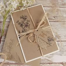 Kraft Paper Wedding Programs Wedding Invitations Cartalia