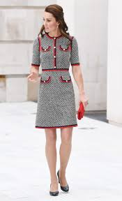 duchess of cambridge wears gucci to open new wing at london u0027s