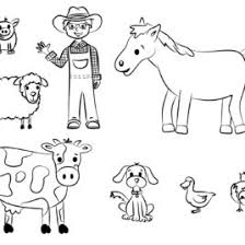 farm animals coloring pages printable give the best coloring pages
