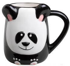 amazon com panda bear hand painted 16oz panda stone ware coffee