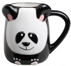 Cute Animal Mugs by Amazon Com Panda Bear Hand Painted 16oz Panda Stone Ware Coffee