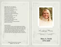 make your own funeral program template5insideandoutsidetogetherparttwo jpg