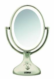 conair lighted vanity mirror conair be18nx nickel double sided lighted makeup mirror mayanka