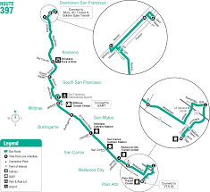 San Jose Bus Routes Map by Route 397