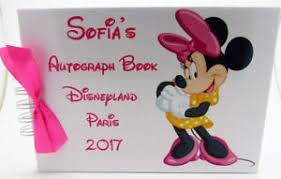 personalized autograph books disney disneyland autograph book personalised minnie mouse