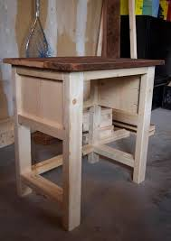 ana white build a mini farmhouse bedside table plans free and