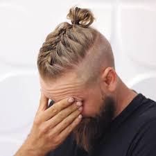 men long hairstyles with beards men braided bun with beard men bun