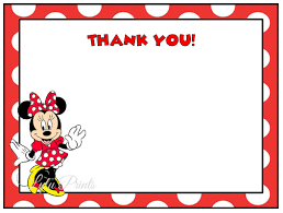 minnie mouse thank you cards minnie mouse thank you cards i print and mail girl birthday