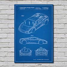 lamborghini gallardo blueprint lamborghini gallardo blueprint auto patent prints touch of