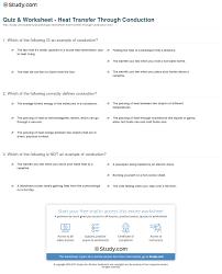 quiz u0026 worksheet heat transfer through conduction study com