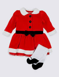 2 piece santa dress with tights bluewater 14 00