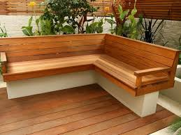 Designer Wooden Garden Bench by Elegant Outdoor Wooden Corner Bench The Modern Wooden Garden Bench
