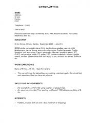 Resume Template With No Job Experience by Cover Letter Resume Sample Experience Volunteer Experience Resume