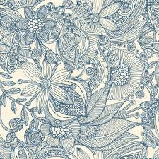 flowers and doodles blue wall mural flowers and doodles blue flowers and doodles blue wall mural photo wallpaper