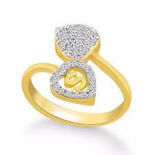 s ring buy kanak jewels diamond heart letter s gold plated ring for women