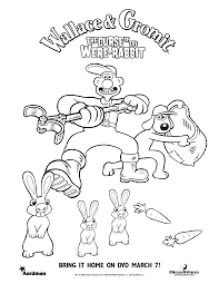 wallace and gromit coloring pages getcoloringpages com