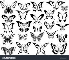 set editable vector generic butterfly designs stock vector 8817811