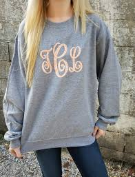 monogrammed sweatshirt monogram crewneck sweater gift for