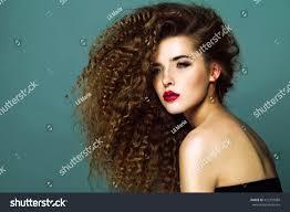 beauty young woman curly big long stock photo 422733889 shutterstock