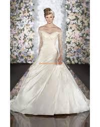 robe de mari e satin robe de mariée princesse satin avec manches dentelle perles
