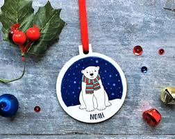 Polar Bear Family Christmas Decoration by Polar Bear Etsy