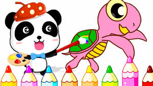 baby panda coloring learn colors u0026 make a colorful picture fun