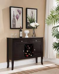 buffet server furniture espresso wine rack console sideboard table
