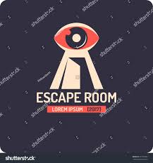 reallife room escape quest game logo stock vector 611032082