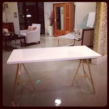 white and gold office desk white gold ikea hack office desks pink pinterest ikea hack