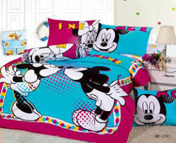 Queen Minnie Mouse Comforter Mickey Mouse Bedding Stunning Cotton Mickey Mouse Bedding Set Sky
