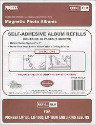 Pioneer Photo Album Refill Pages Pioneer Rlm Magnetic Photo Album Refill Pages 8 25