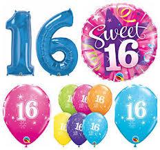 qualatex balloons age 16 happy 16th birthday qualatex balloons helium party