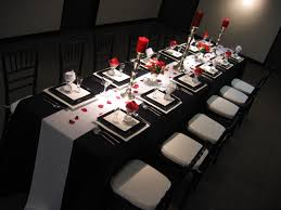 silver wedding anniversary decorating ideas red black and white