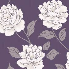 B Q Bedroom Wallpaper Colours Paste The Wall Ella Purple U0026 White Wallpaper Departments
