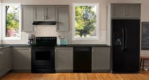 gray kitchen cabinets with black appliances home sweet home kitchen remodel home kitchens kitchen decor