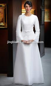 muslim wedding dresses low price simple but satin sleeve muslim wedding