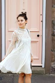 we love everything lace white lace sleeved dress and free people