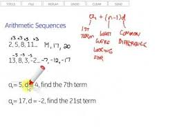 arithmetic sequences youtube