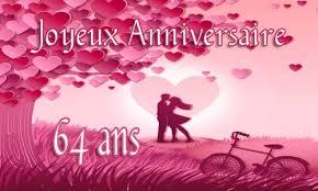 64 ans de mariage carte anniversaire 64 ans virtuelle gratuite à imprimer