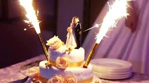 candle sparklers wedding cake candles sparkly aisle society three tier buttercream