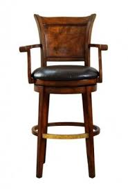 Brown Leather Bar Stool Leather Swivel Bar Stools Foter